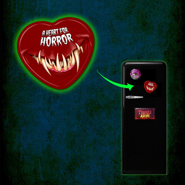 A Heart for Horror – Kitchen Magnet